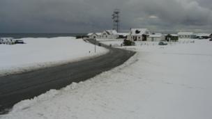 Snow on Tiree