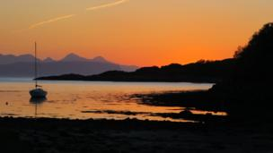 Sunset over Glenuig
