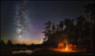 Camping in Russia under the stars
