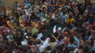 pakistan soldier coffin