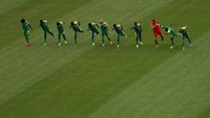 Южноафриканская женская футбольная команда на Олимпиаде в Рио