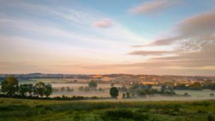Early morning near Wigginton, north Oxfordshire.