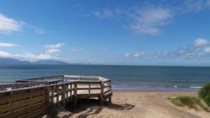 A view out from Newborough beach in Gwynedd