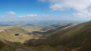 The Brecon Beacons as seen from Pen-y-Fan, Powys