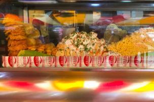 Puesto de comida en Bombay