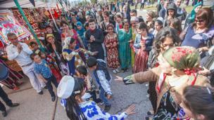 Цыгане-люли празднуют Навруз