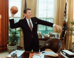 President Reagan in the Oval Office in March 1982