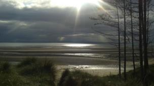Burghead beach