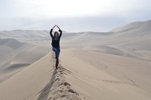 توازن أعلى الكثبان الرملية