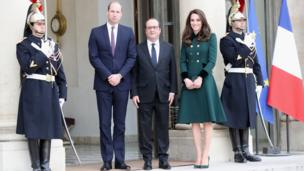 The royals with Francois Hollande