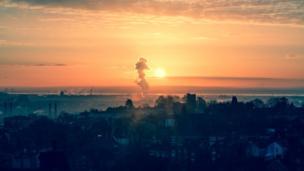 Sunrise over Newport by Arabella Itani
