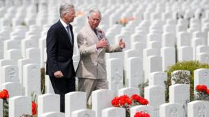 Prince Charles and Belgium's King Philippe attended the commemorations