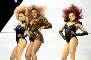 Beyonce performs onstage