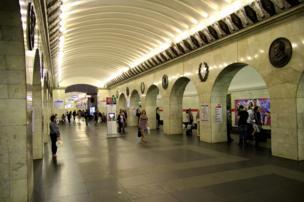 फ़ाइल फ़ोटो सेंट पीटर्सबर्ग मेट्रो