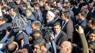 حسن روحانی در تجمع بیست و دوم بهمن