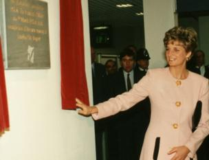 Princess Diana visits London City Airport
