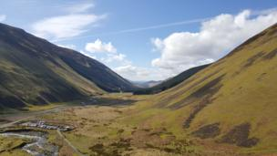 View from Grey Mare's Tail
