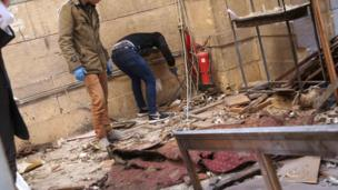 انفجار في محيط الكاتدرائية المرقسية في القاهرة