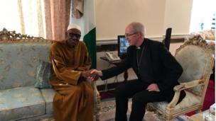 Shugaba Buhari da Archbishop na Canterbury Justin Welby
