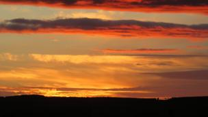 Sunset over Chirnside