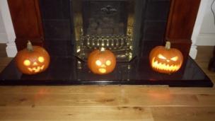 Jared, Isaac, and Noah's pumpkins