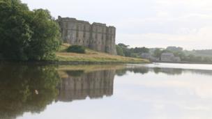 Carew Castle in Pembrokeshire