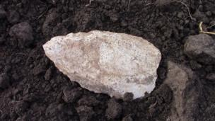 """Петру Гира, Молдавия: """"Каменный топорик. Найден в огороде"""""""