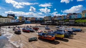 Tenby in the sunshine