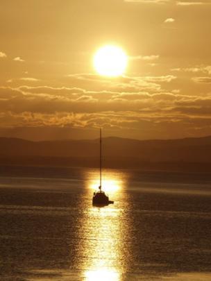 Sunset over Portmahomack