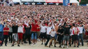 Fan zone at Lille
