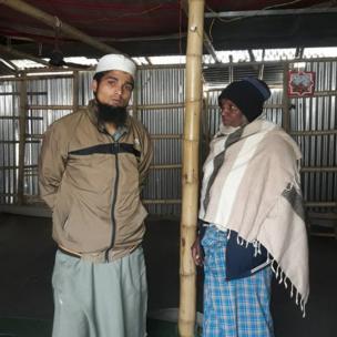Rohingya community members