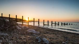 The stunning Pensarn beach sunset in Abergele
