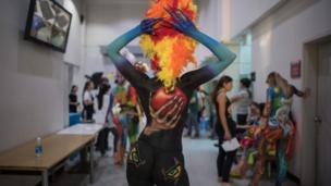 Daegu Bodypainting Festival in South Korea
