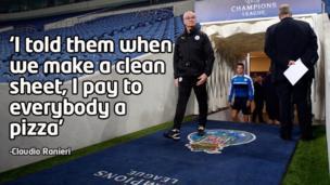 Claudio Ranieri at Leicester's stadium
