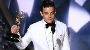"Rami Malek, protagonista de ""Mr. Robot""."