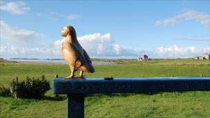 wooden puffin