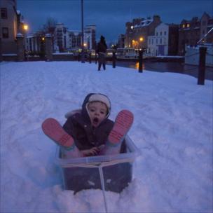 Edinburgh snow scene