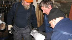 Lake Vostok scientists