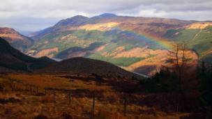 Rainbow over Loch Lubnaig in the Trossachs