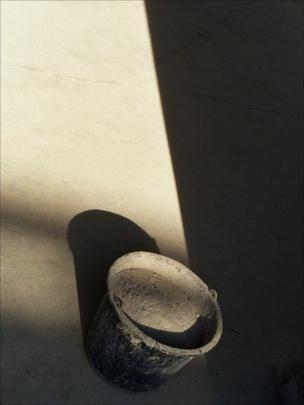 A concrete floor