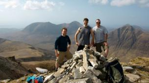 Graeme, Andy and Gants on top of Liathach