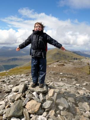 William on top of Stob Bennein