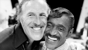 Sir Bruce Forsyth, with singer and dancer Sammy Davis Jnr.