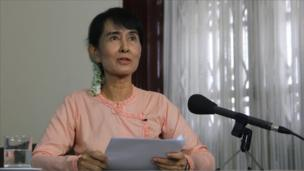 Aung San Suu Kyi recording the Reith Lectures in Burma in June 2011