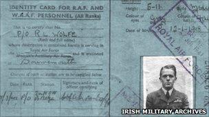 Bud Wolfe's identity card