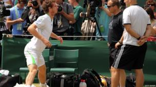 Andy Murray stretching