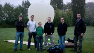 Space enthusiasts, including Chris Cardwell, Gareth Dorrian, Mathew Roberts, and Frank Morris.