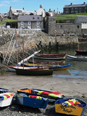 Boats in Portsoy harbour