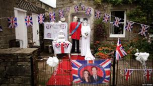 Kate and Wills scarecrows enter the annual Scarecrow competition in Kettlewell.