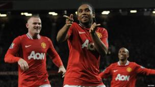 Manchester United 3-0 Tottenham - Anderson celebrates his goal